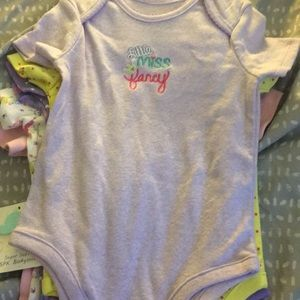 Carters Baby Girls Wildflower Shortall Set Size 9 Months 9M NWT NEW 6-9 mos